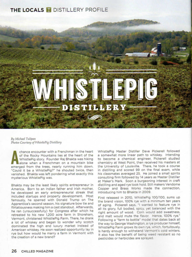Chilled WhistlePig Story